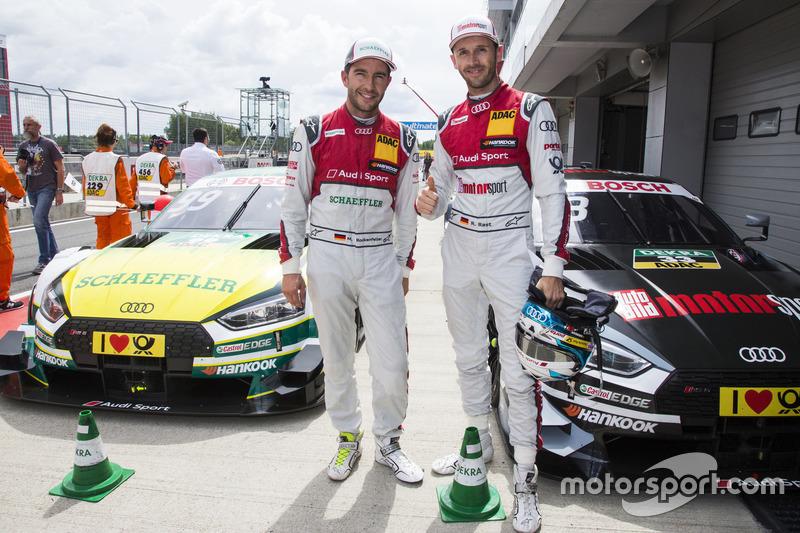 Майк Роккенфеллер,, Audi Sport Team Phoenix, Audi RS 5 DTM, та Рене Раст, Audi Sport Team Rosberg, Audi RS 5 DTM