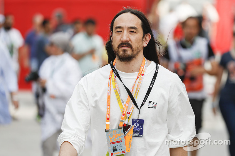 DJ Steve Aoki in the paddock