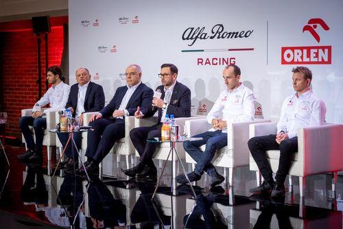 Presentazione Alfa Romeo Racing Orlen a Varsavia
