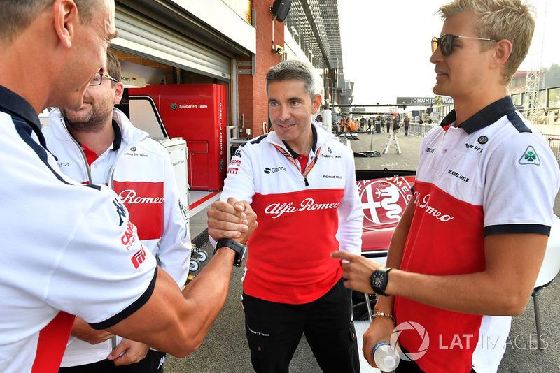 Marcus Ericsson, Sauber e Xevi Pujolar, Capo dell'ingegneria in pista, Sauber