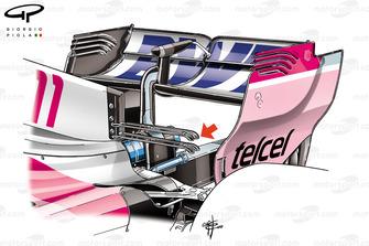 Force India, doppia top wing, GP di Monaco