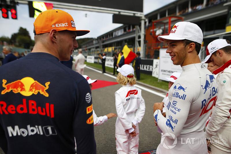 Max Verstappen, Red Bull Racing,y Pierre Gasly, Toro Rosso