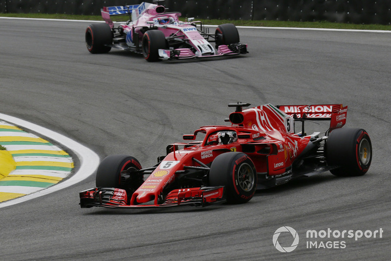 Себастьян Феттель, Ferrari SF71H, Серхіо Перес, Racing Point Force India VJM11