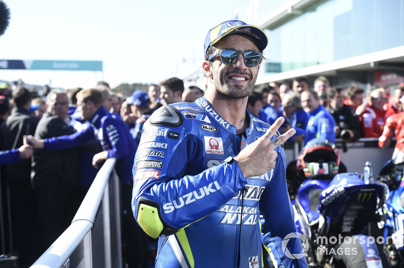 Second place Andrea Iannone, Team Suzuki MotoGP