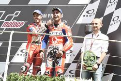 Podium: Danilo Petrucci, Pramac Racing, Claudio Domenicali, Andrea Dovizioso, Ducati Team