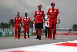 Sebastian Vettel, Ferrari y Riccardo Adami, ingeniero de carrera de Ferrari