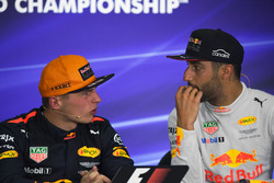 Max Verstappen, Red Bull Racing and Daniel Ricciardo, Red Bull Racing in the Press Conference