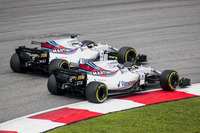 Lance Stroll, Williams FW40, Felipe Massa, Williams FW40