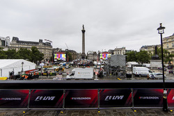 Preparations for F1 Live in Trafalgar Square