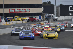 #8 Cadillac Racing Cadillac ATS-VR GT3: Michael Cooper, #31 TR3 Racing Ferrari 488 GT3: Daniel Mancinelli