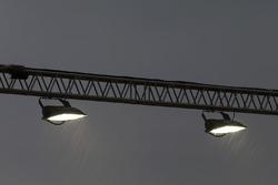 Lichter und Regen