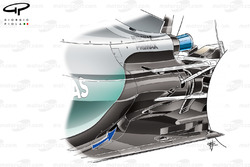 Mercedes W06 diffuser inlet