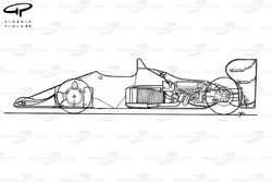 Benetton B186 1986 detailed side view