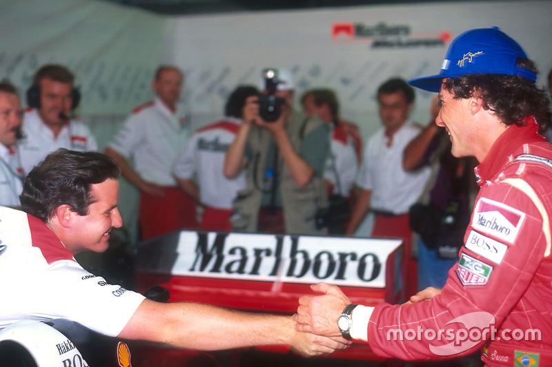 ... im Team: Für McLaren ist es der 104. Sieg und damit Rekord.
