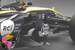 Aerocat and Mirrors Renault F1 Team RS18 vs RS17