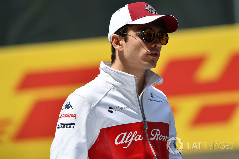 Charles Pic, on the drivers parade