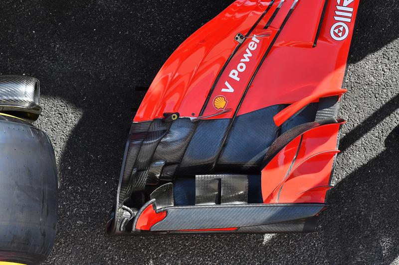 Detalle delantero del Ferrari SF71H