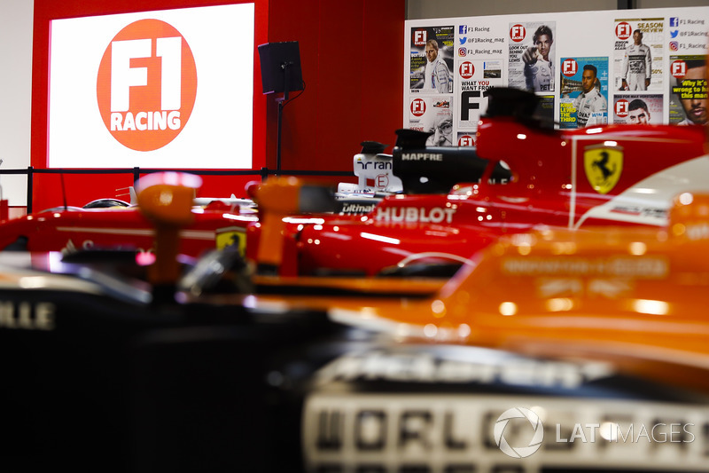 A McLaren, Ferrari and Renault on the F1 Racing Stand