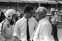 Chris Amon, Ferrari 312, Mauro Forghieri, chief engineer, Ferrari founder and owner Enzo Ferrari
