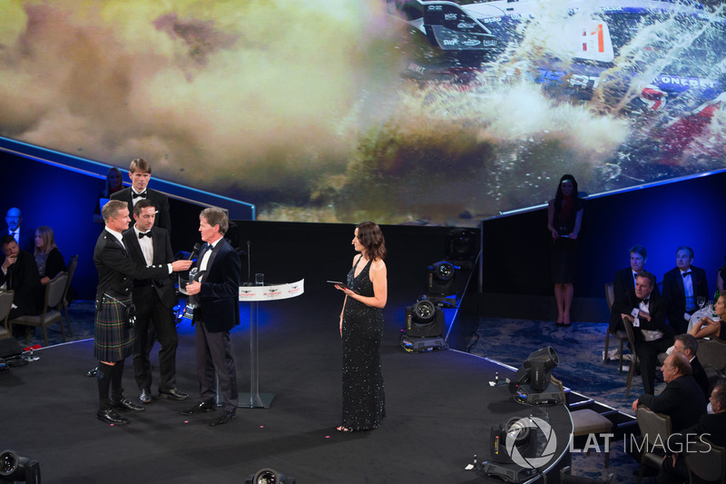 Malcolm Wilson accepts the Rally Car of the Year Award for the Ford Fiesta RS WRC