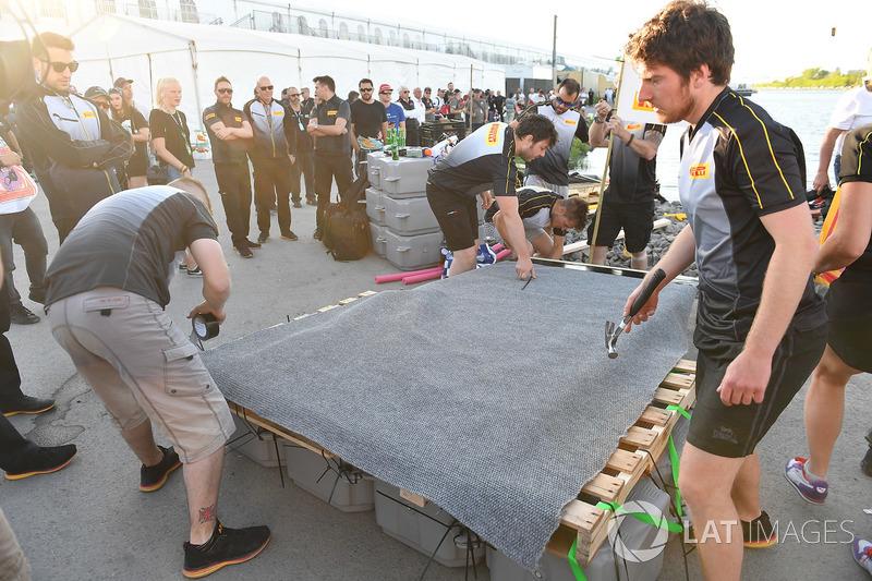 Pirelli at the raft race