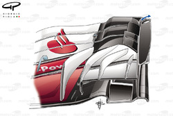 Ferrari SF70H, detalle del alerón delantero