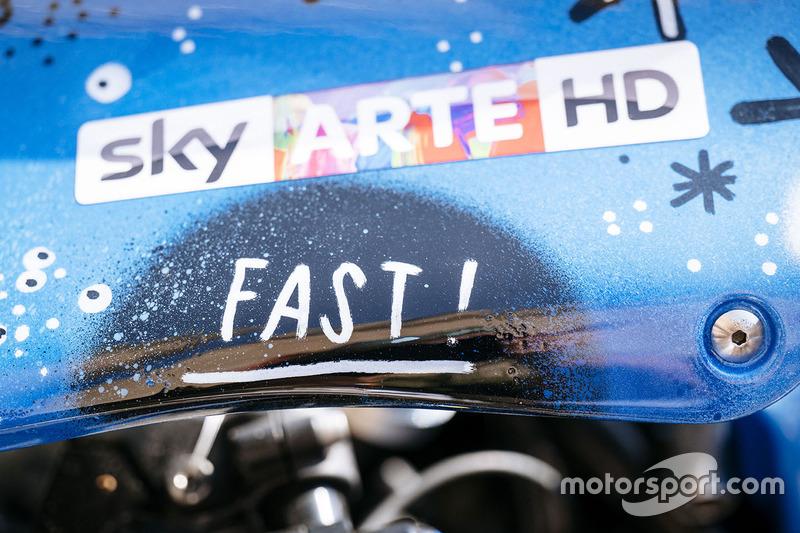 Sky Racing Team VR46, dettaglio della nuova livrea della moto