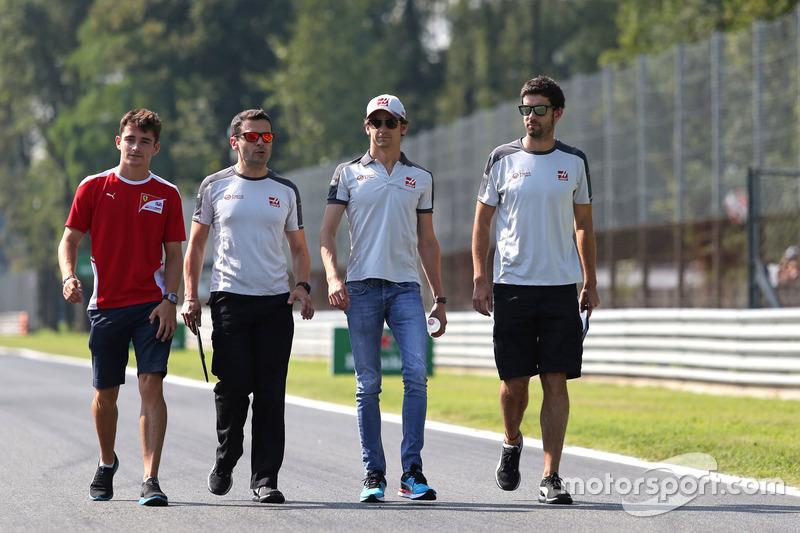 Charles Leclerc, test driver, Haas F1 Team e Esteban Gutierrez, Haas F1 Team