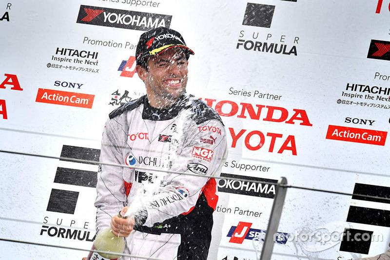 Podium: winner Joao Paulo de Oliveira, Team Impul