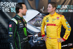 Kurt Busch and Ryan Hunter-Reay