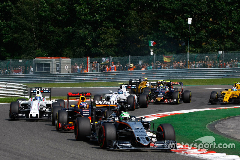 Nico Hulkenberg, Sahara Force India F1 VJM09 alla partenza della gara