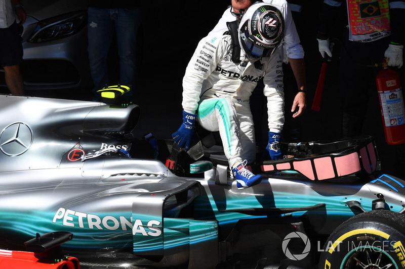 Valtteri Bottas, Mercedes-Benz F1 W08  en parc ferme