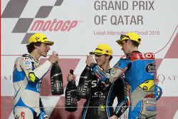 Podium: Lorenzo Baldassarri, Pons HP 40, Francesco Bagnaia, Sky Racing Team VR46, Alex Marquez, Marc VDS