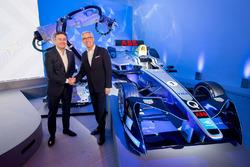 Alejandro Agag, stichter en CEO Formule E en Ulrich Spiesshofer, CEO van ABB