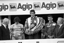 Podium: 1. Alain Prost, McLaren; 2. Michele Alboreto, Ferrari; 3. Nelson Piquet, Brabham