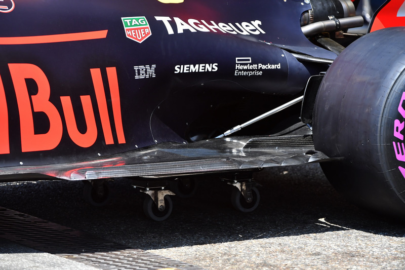 Fond plat arrière de la Red Bull Racing RB14