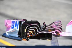 Detalle del alerón delantero del Force India VJM11