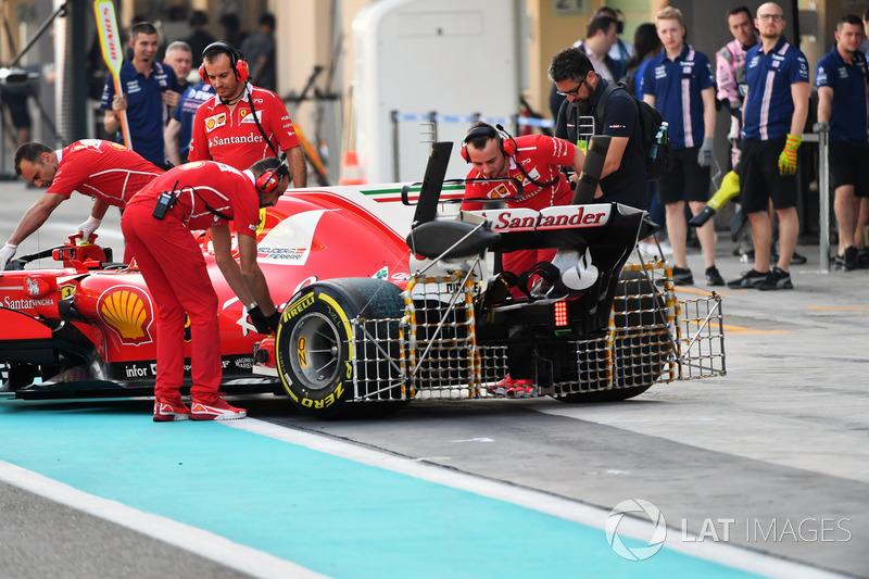 Kimi Raikkonen, Ferrari SF70H, aero sensors op de achtervleugel