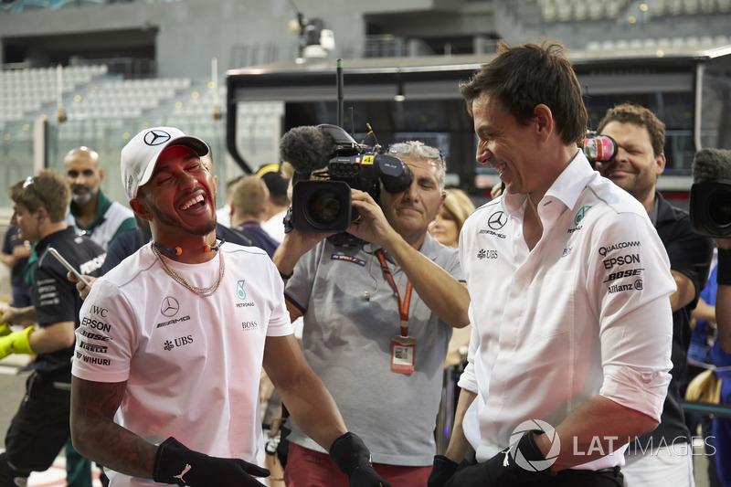 Lewis Hamilton, Mercedes AMG F1, Toto Wolff, Director Ejecutivo Mercedes AMG F1