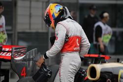 Lewis Hamilton, McLaren, parc ferme