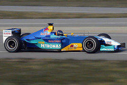 Heinz-Harald Frentzen, Sauber Petronas C22 tests the fully liveried car for the first time