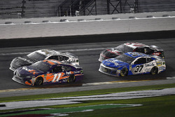 Denny Hamlin, Joe Gibbs Racing Toyota leads