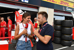 Davide Valsecchi, Sky Italia et Federica Masolin, présentatrice Sky Italia
