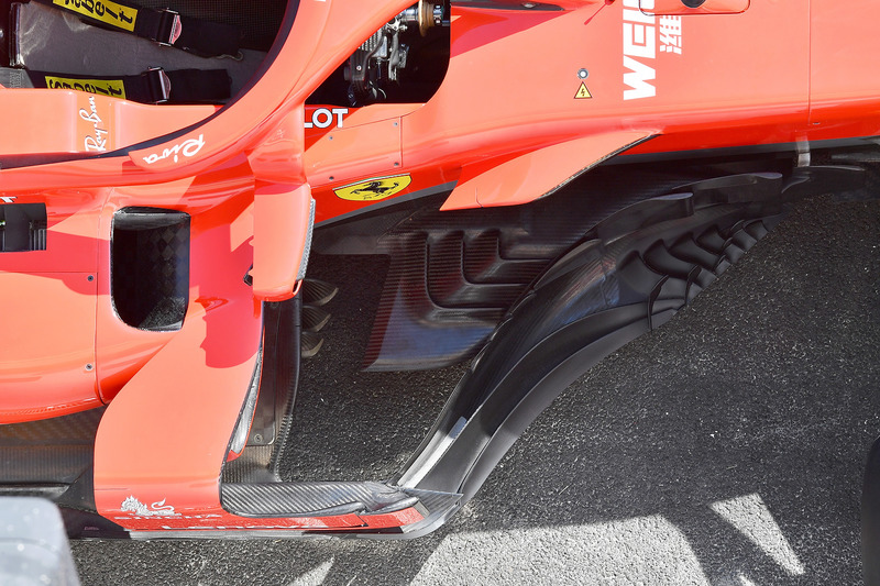 Detail barge board Ferrari SF71H