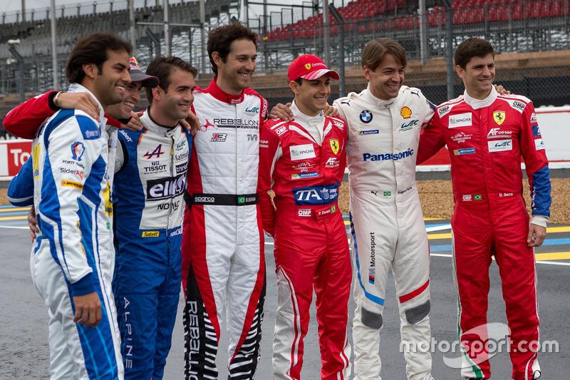 Foto di gruppo dei piloti brasiliani