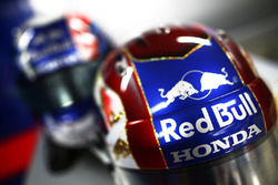 The helmet of Pierre Gasly, Toro Rosso