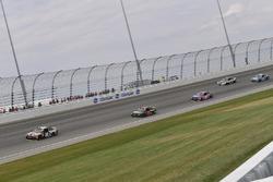 Kyle Busch, Joe Gibbs Racing Toyota, Martin Truex Jr., Furniture Row Racing Toyota, Denny Hamlin, Joe Gibbs Racing Toyota