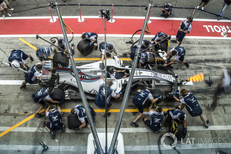 Williams pit stop practice
