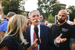 Chase Carey, Chairman, Formula One, at the parade in Milan