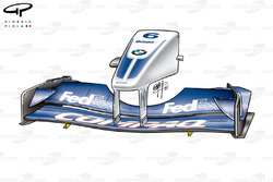 Williams FW24 2002 front wing and nose